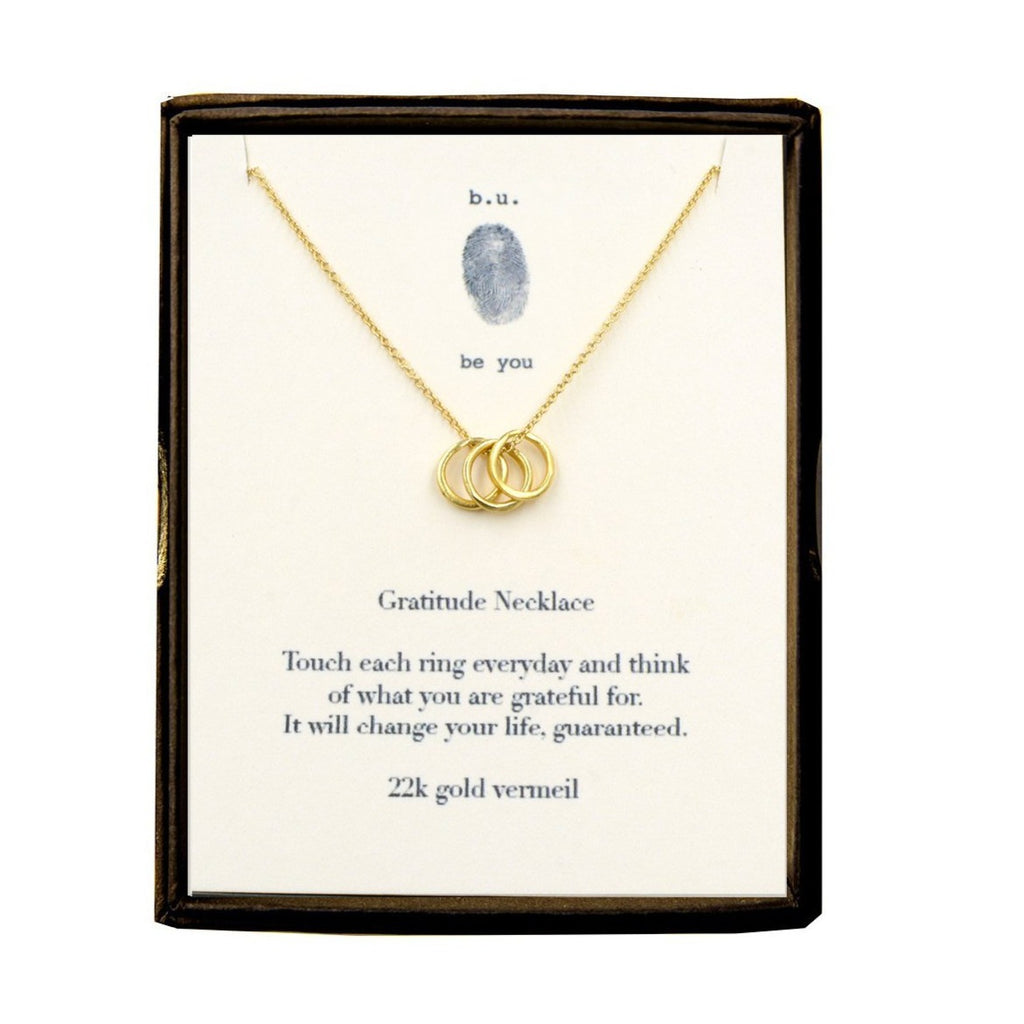 Gold Gratitude Necklace