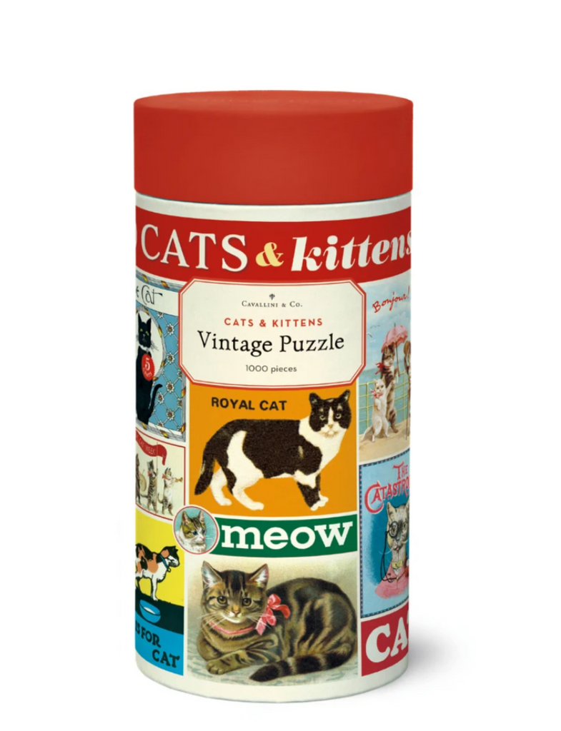 Cavallini Vintage Cats and Kittens 1000 Piece Puzzle