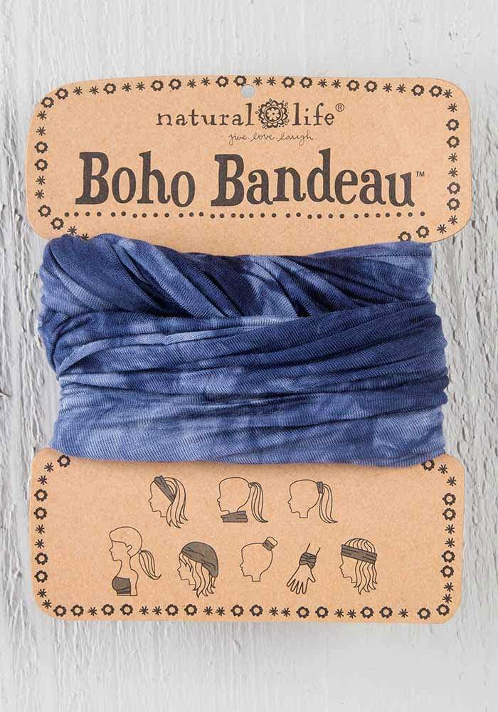 Navy and White Tie-Dye - Boho Bandeau