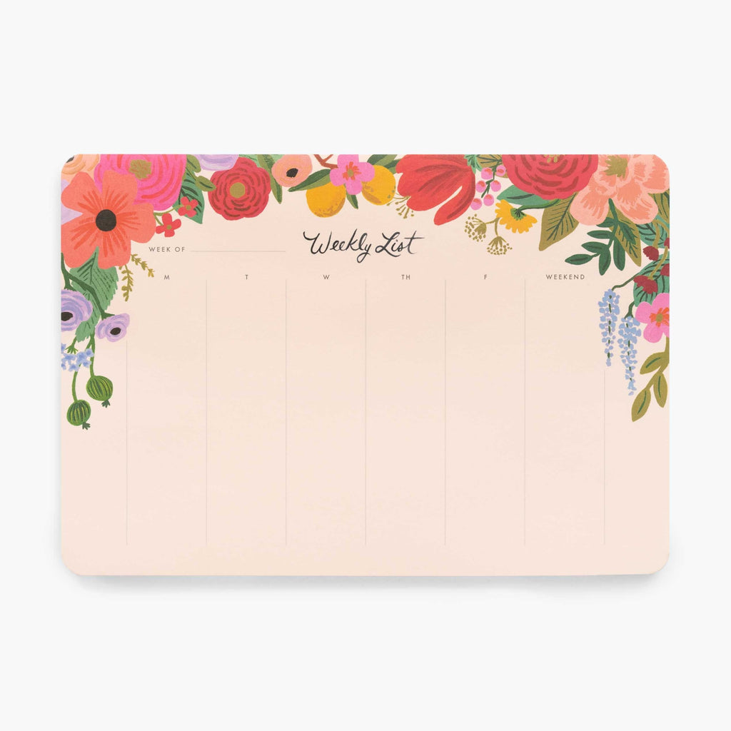 Weekly List Desk Pad - Rifle Paper