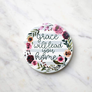 Grace Will Take You Home Car Coasters