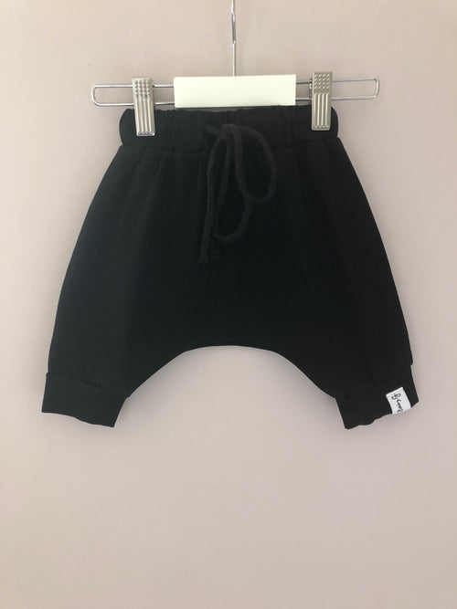BobbyG  Black Harem Shorts