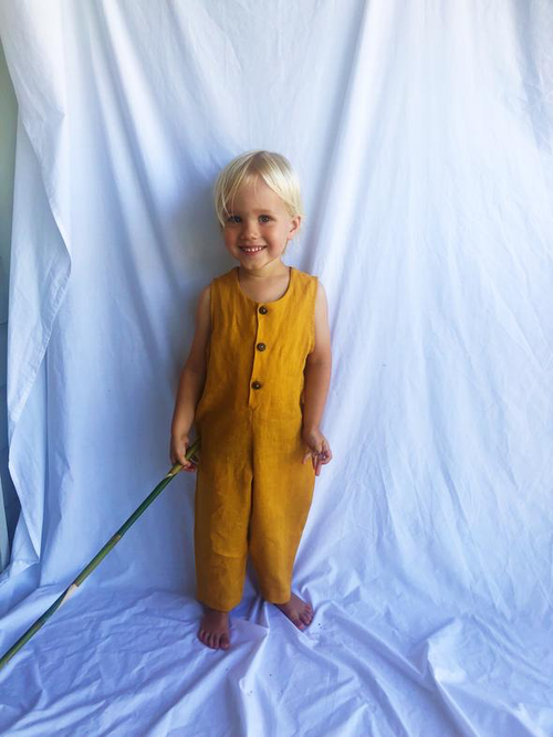 Adi and El Terre Jumpsuit Mustard Yellow