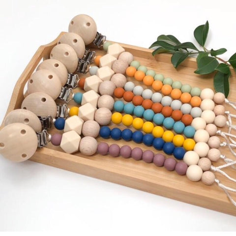 One.Chew.Three Naturals Silicone & Beechwood Teether