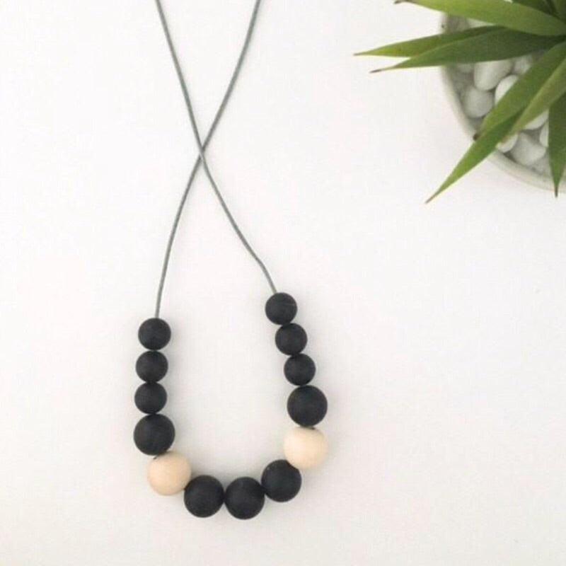 One.Chew.Three Silicone Nursing Necklaces