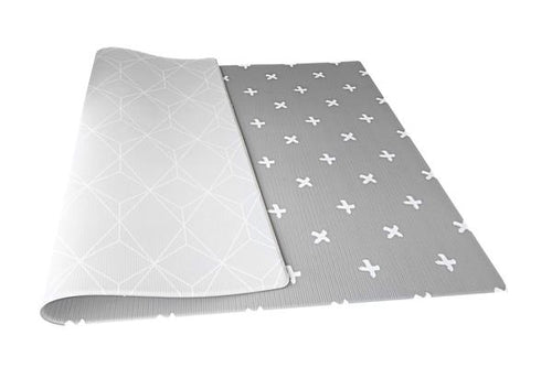 Mikro Australia Grey Crosses Playmat