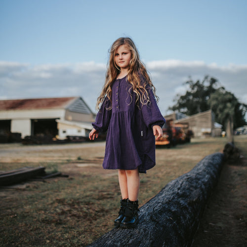 Tully and the Chief - Purple Haze Dress