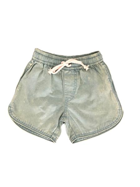 Tully and the Chief Bodhi Shorts- Stonewashed Green