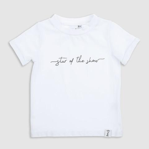 BobbyG Star of the Show Tee White 3-4Y