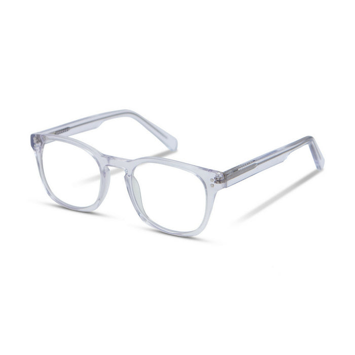 Clear frame blue light glasses