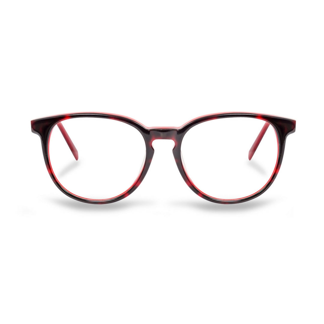 Blue light glasses red tortoise