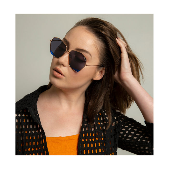 Designer Hexagonal Sunglasses EXYRA eyewear