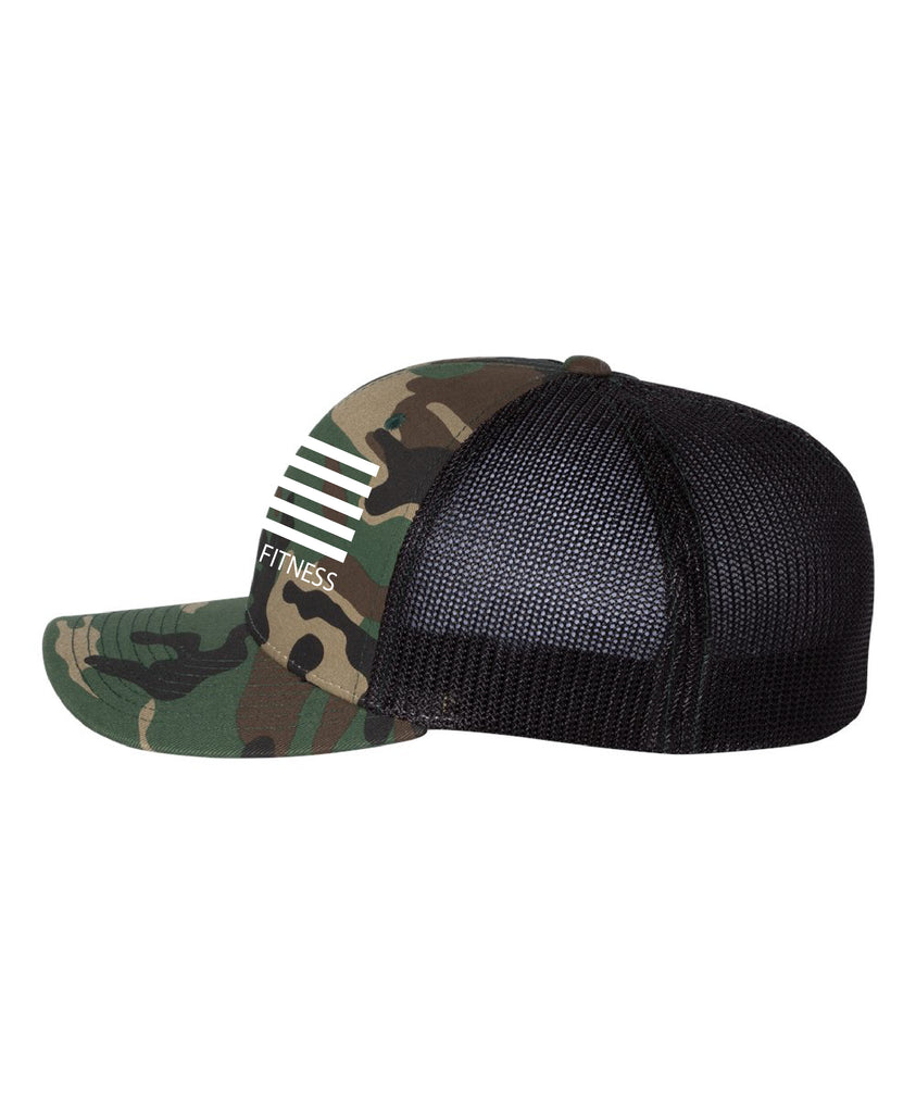 Fitted Trucker - Army Camo/ Black