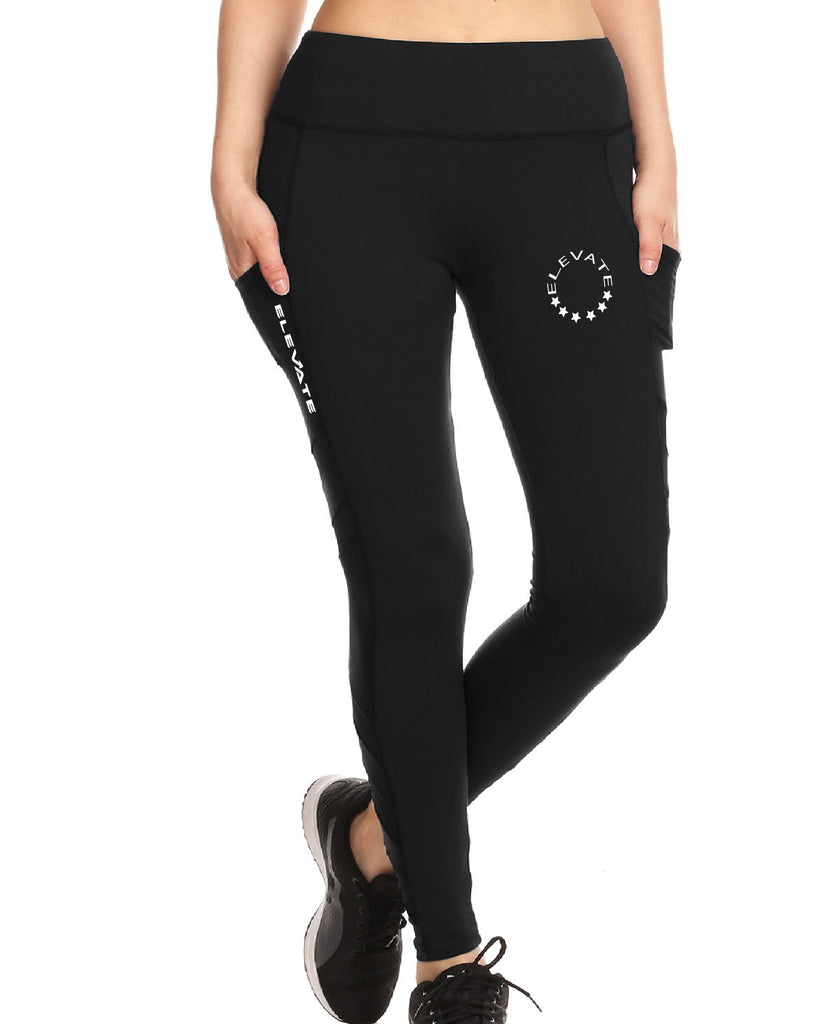 Sport Leggings With Side Pockets - Black