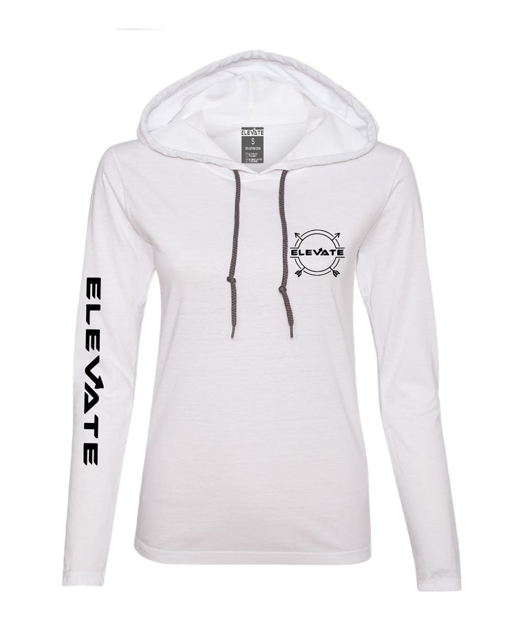 Womens Lightweight Long Sleeve - White/ Dark Grey