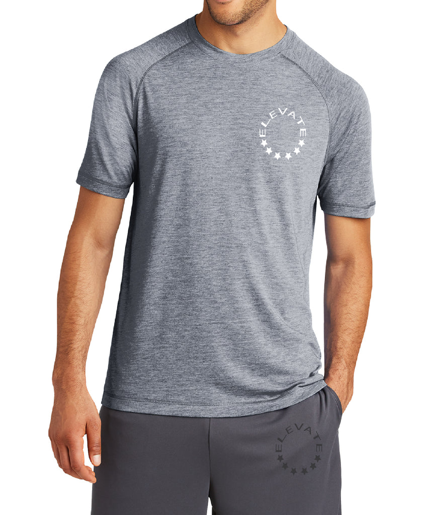 Tri-Blend Wicking Tee - True Navy Heather
