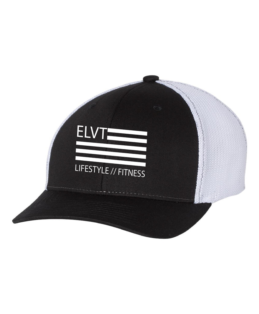 Fitted Trucker - Black/ White