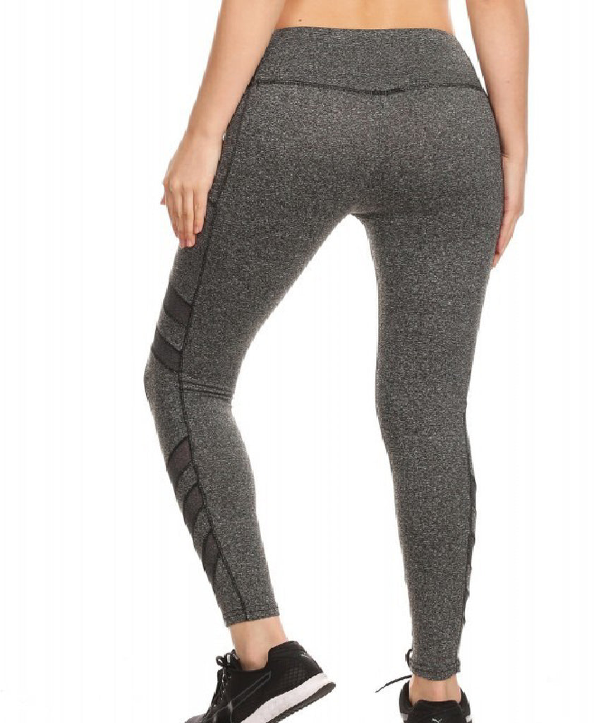 Sport Leggings With Side Pockets - Grey