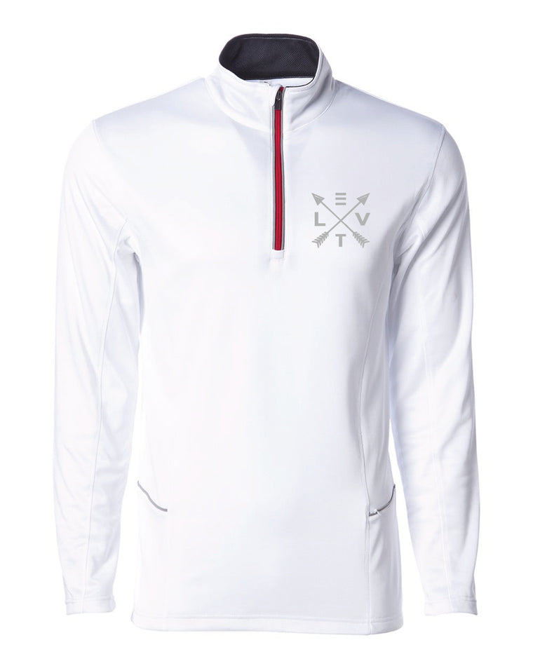Lightweight Poly-Tech 1/4 Zip Up - White