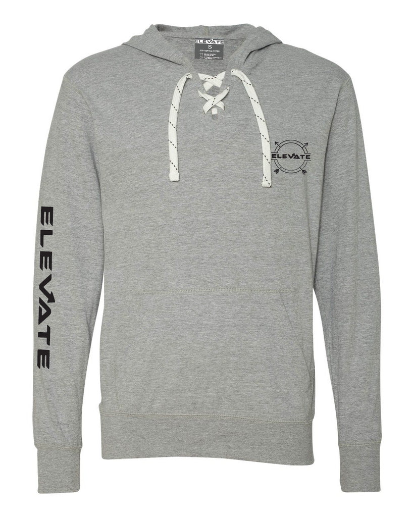Sport Lace Jersey Hooded Pullover - Grey/ Oxford