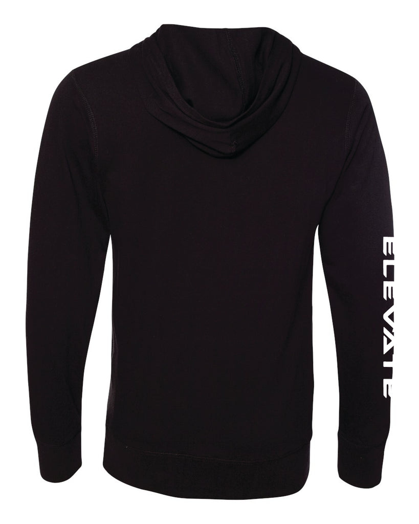 Sport Lace Jersey Hooded Pullover - Black