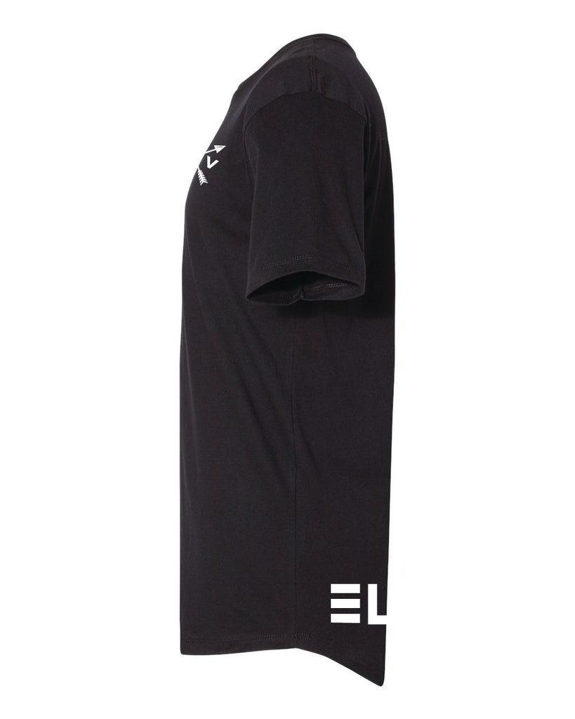 Long Body Tee - Black