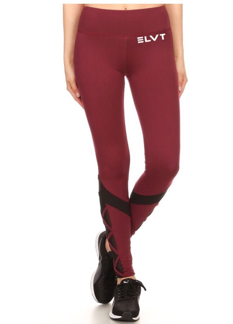 Leggings/ Burgundy