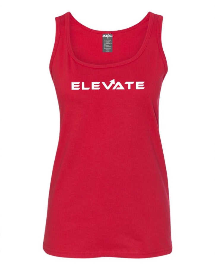 Womens Performance Raceback Tank - Red