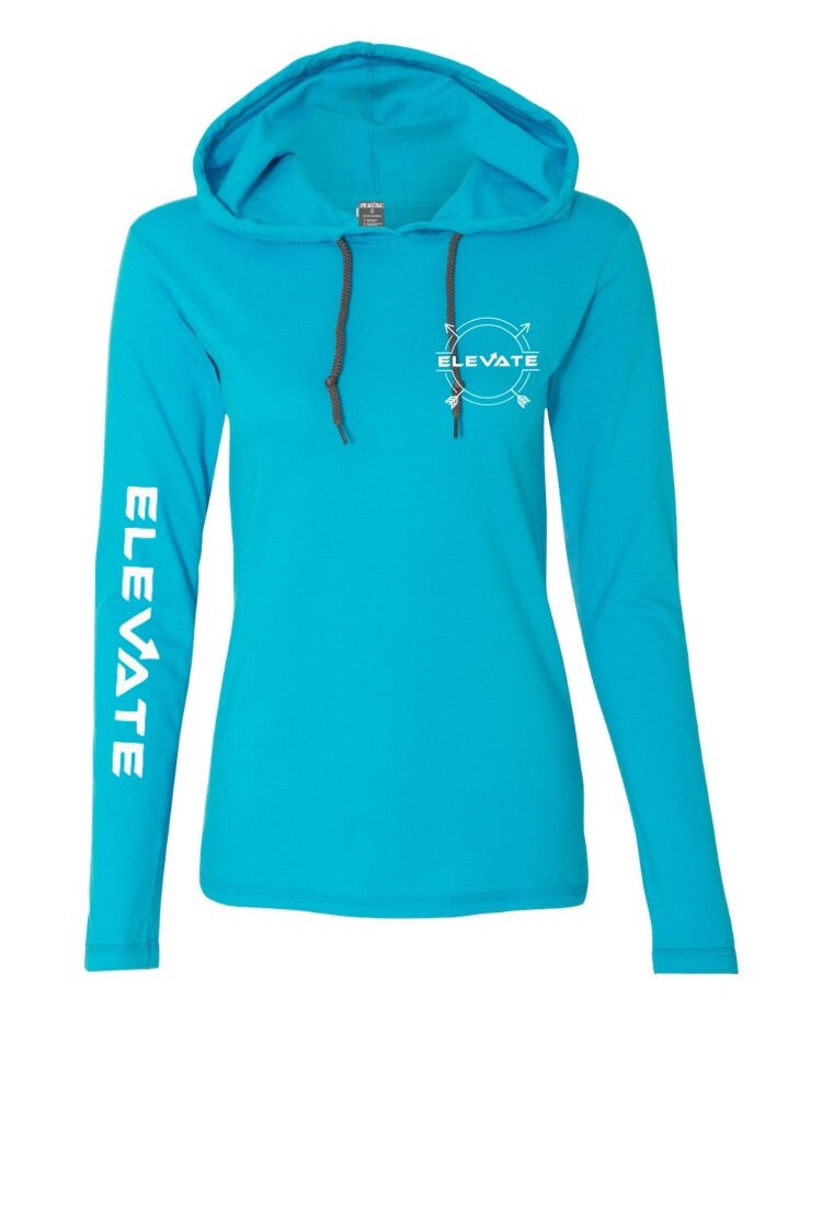 Womens Lightweight Long Sleeve - Blue/ Dark Grey