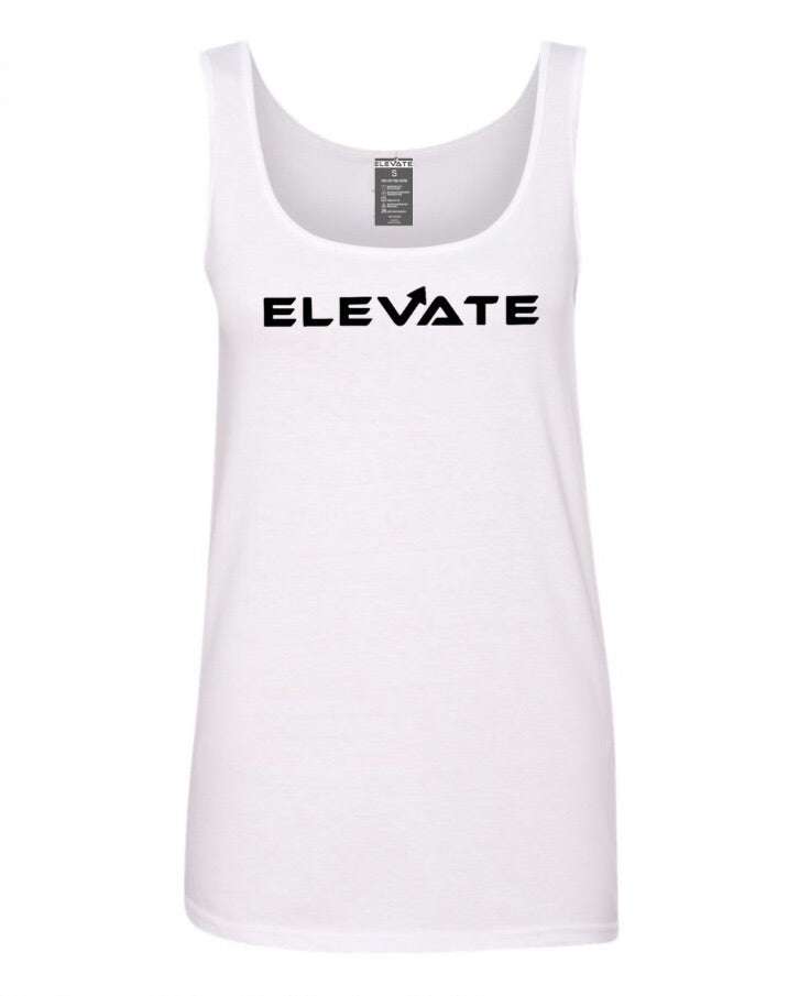 Womens Performance Raceback Tank - White