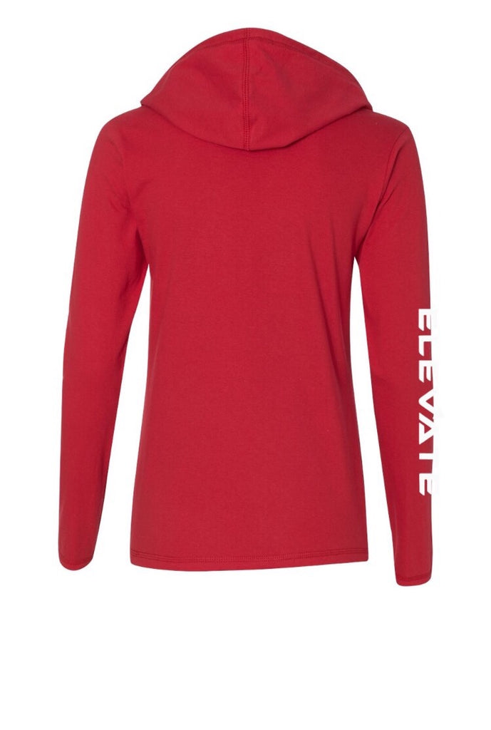 Womens Lightweight Long Sleeve - Red/ Dark Grey
