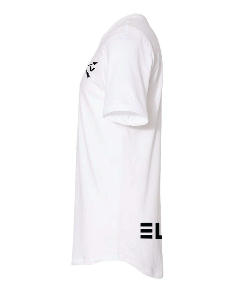 Long Body Tee - White