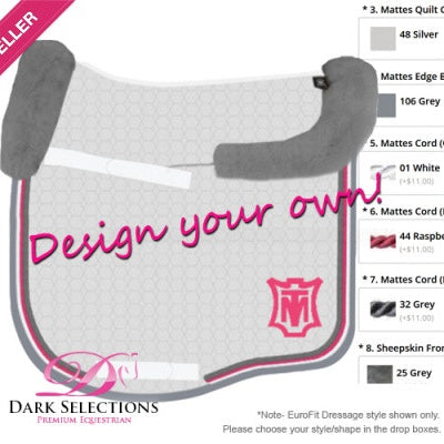 MATTES SADDLE PAD - CUSTOMISE YOUR OWN
