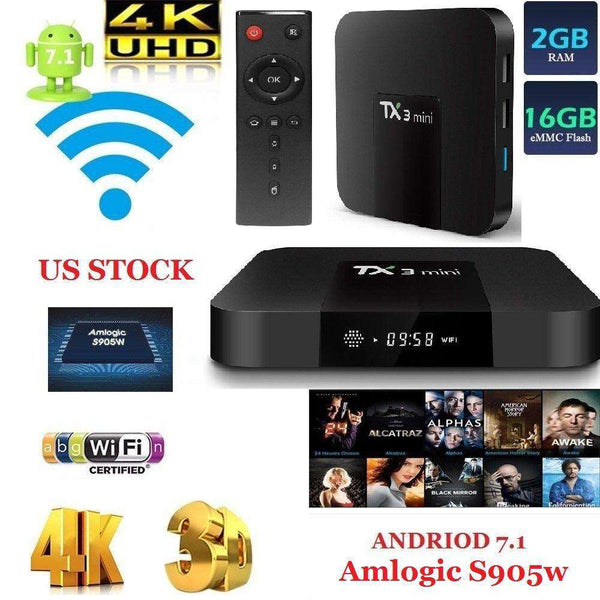 Fully Loaded Android 4K TV Box Kodi 17.6 with Bluetooth Keyboard Remote
