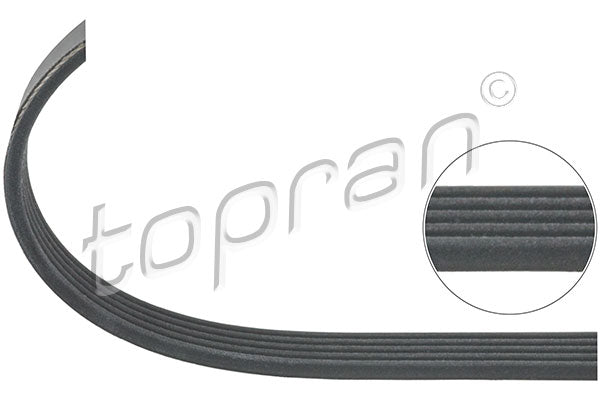 BMW Ribbed V-Belt 5PK1023 Climate Compressor X5 E53 M62 11287507626