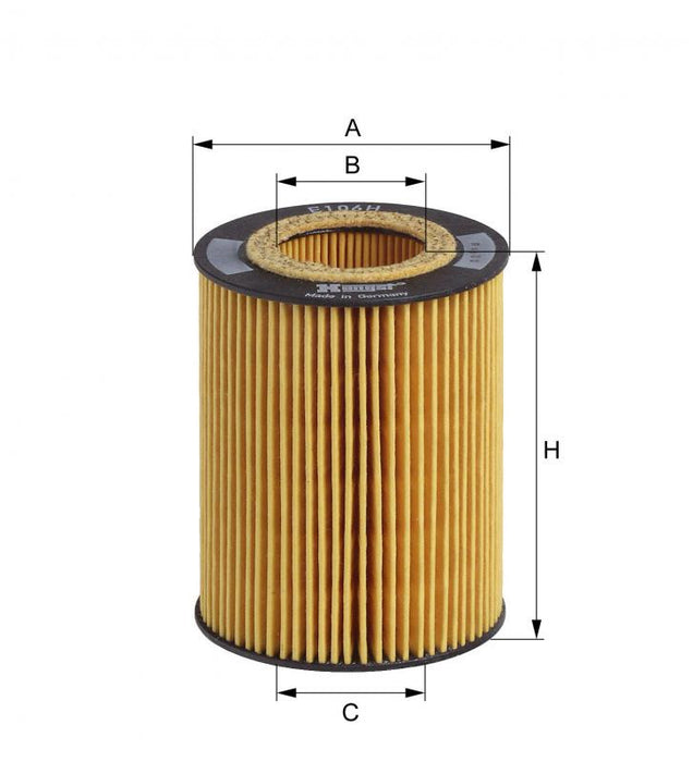 BMW Oil Filter E36 E46 E39 E60 X3 X5 Z3 M52 M54 - Hengst 11421427908 11427512300