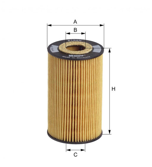 BMW Oil Filter M43 M44 - Hengst