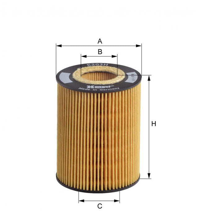 BMW Oil Filter N62 V8 - Hengst