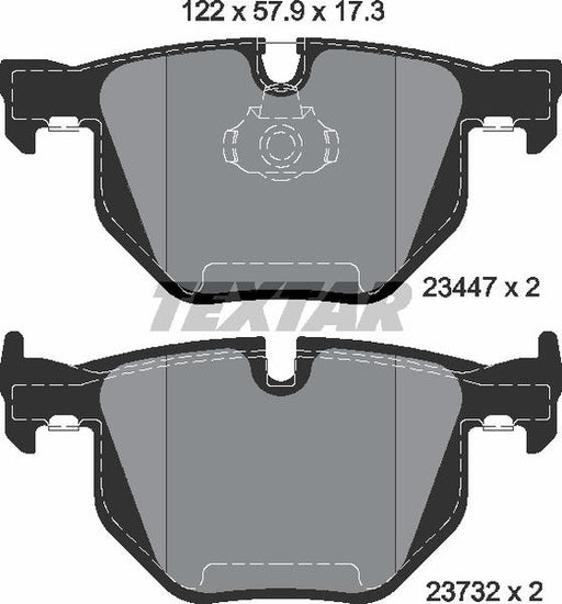 BMW Brake Pads Rear E70 E71 - TEXTAR 34216776937