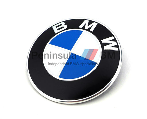 BMW Plaque Bonnet Badge Roundel 82mm GENUINE 51148132375