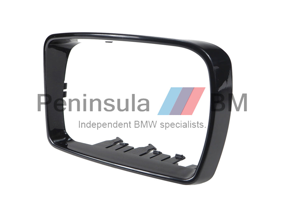 BMW Exterior Mirror Trim Ring Left Sport X5 E53 Painted Schwarz II 51167002319