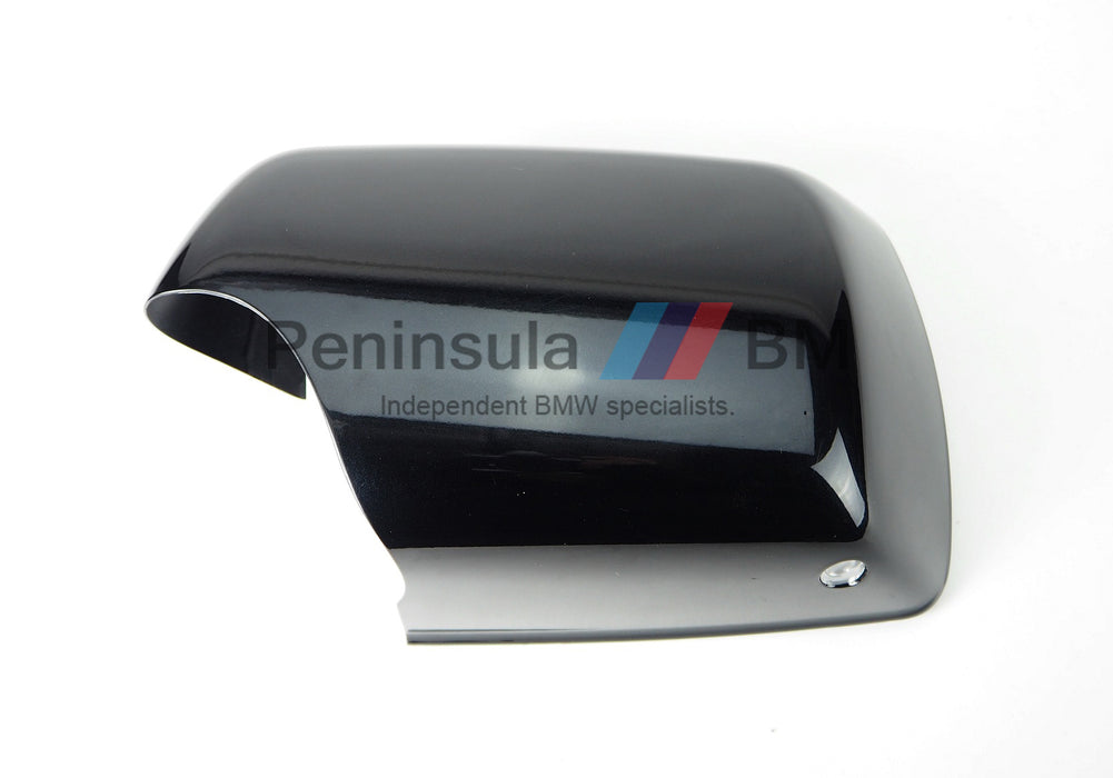 BMW Exterior Mirror Cover Left With Light X5 E53 Painted Schwarz II 51168266733