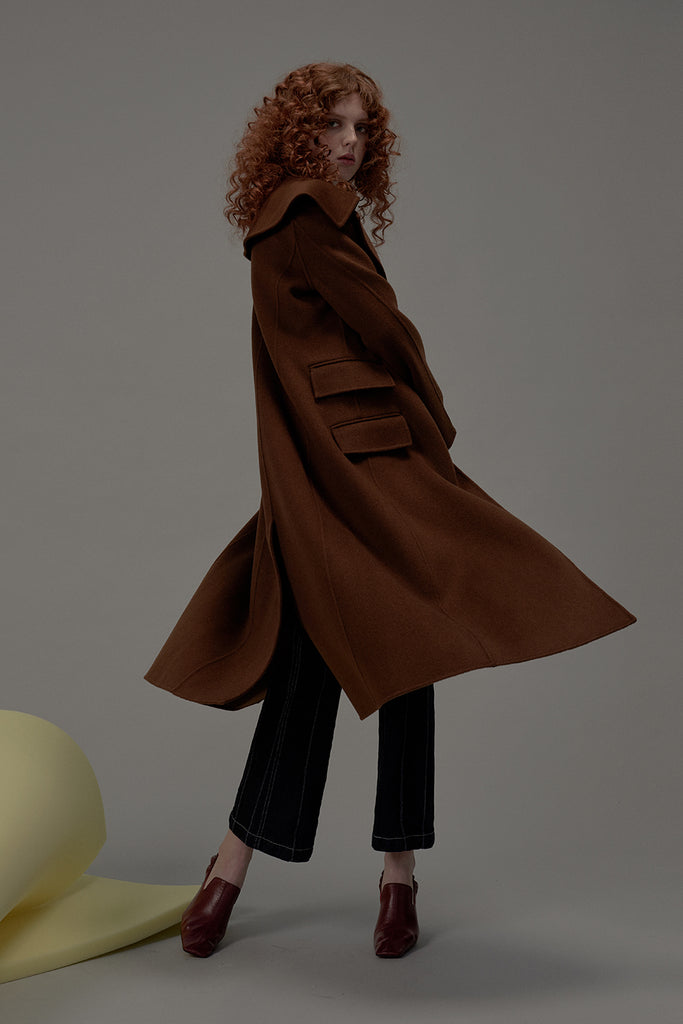 Call Me Wool Coat-Tobacco Brown