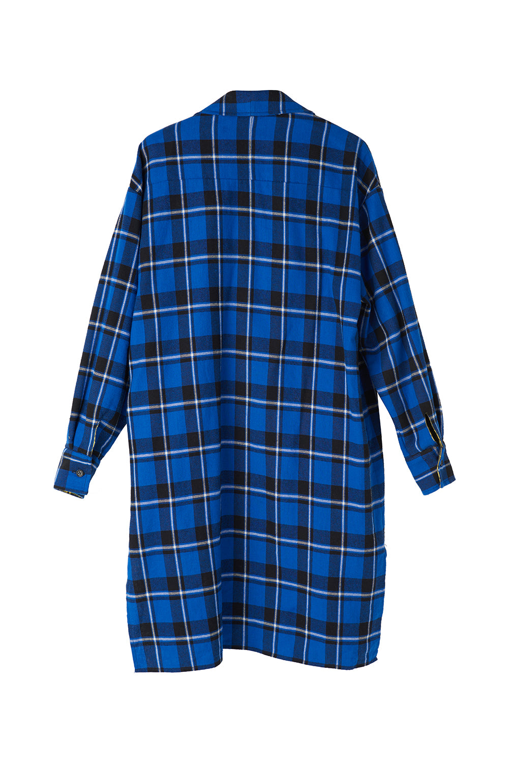 False Two Piece Checked Shirt Dress