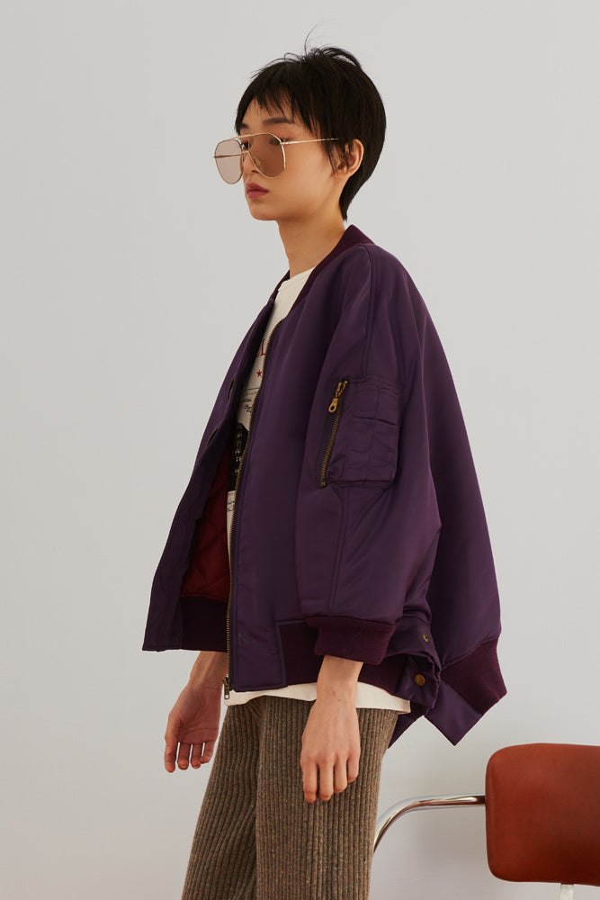 MA-1 Bomber Cape Jacket - front row shop
