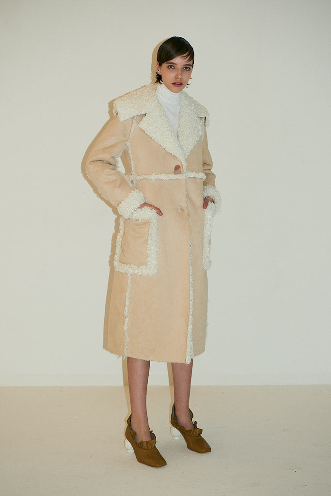 Charlotte Coat-Beige/Cream