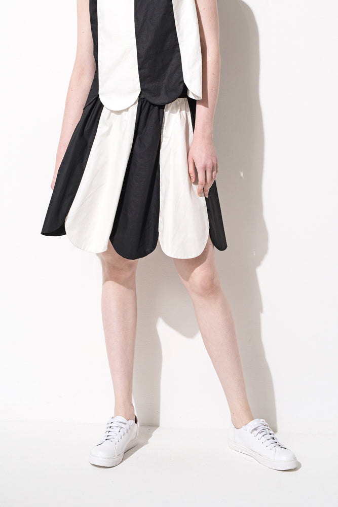 Colorblock Knee-Length Skirt - front row shop