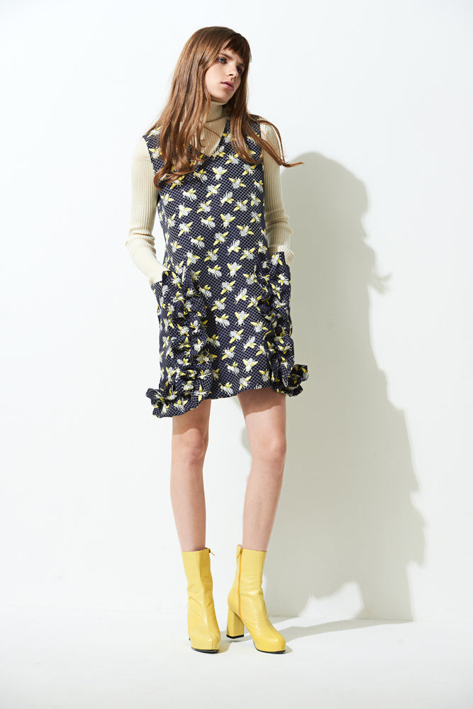 Bee Print Dress - front row shop