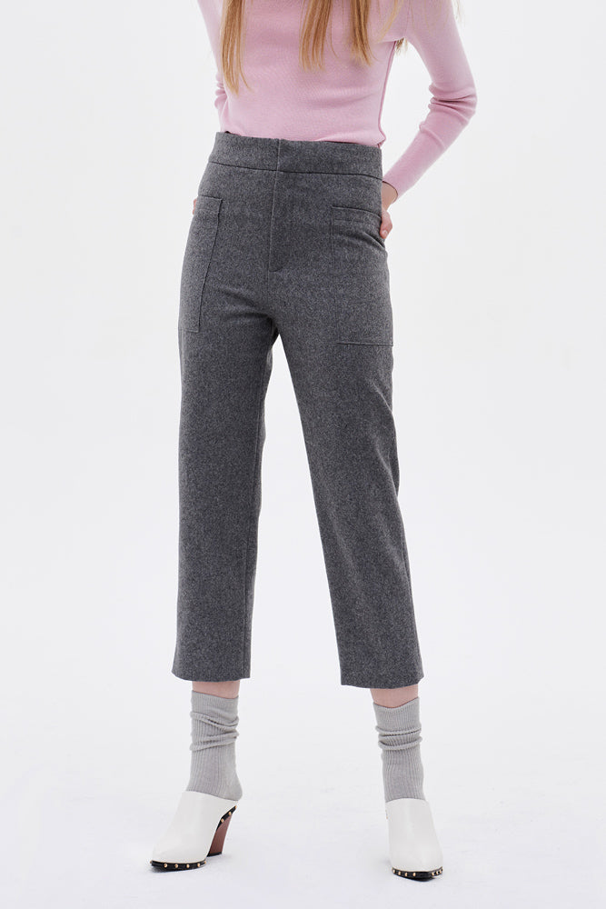 Wool-blend Tapered Pants
