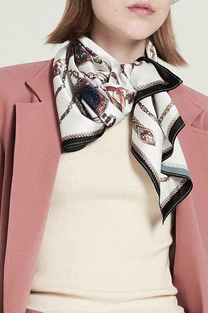 Horologe Print Scarf - front row shop